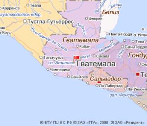Гватемала на Яндекс.Картах