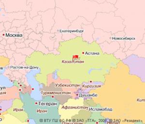 Казахстан на Яндекс.Картах